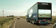 سامسونج تبتكر شاشات للتجاوز عن الشاحنات بأمان