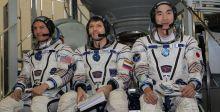 صاروخ سويوز الروسي الى الفضاء