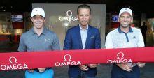 روري ماكلروي وسيرجيو غارسيا في زيارة لمعرض أوميغا في بطولة PGA