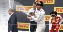 هل رشّ هاميلتون  بوتين بالشمبانيا؟
