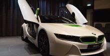 BMW i8  مدهشة بالأخضر والأبيض