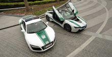 R8  و Q7  من Audi  إلى شرطة دبي