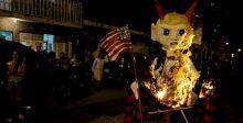 حرقُ دمى ترامب طردا للارواح الشريرة