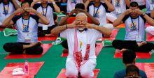 الهند في احتفالية اليوغا
