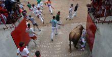 صخبٌ وإصابات في مطاردة الثيران الاسبانية