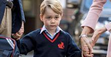الأمير جورج متوترا في يومه الدراسيّ الأول