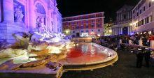 دمٌ في نافورة ايطالية كاحتجاج سينمائي