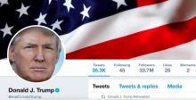 حساب ترامب على تويتر يتوقف