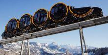 في سويسرا القطار يسير في الفضاء