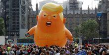 بالون ترامب بالحفّاض الى المدن الأميركية