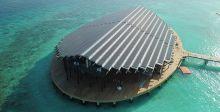 منتجع الجزيرة الخاصّ بالطّاقة الشّمسيّة في المالديف