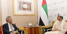 منصور بن زايد يلتقي رئيس البنك الأسيوي للاستثمار
