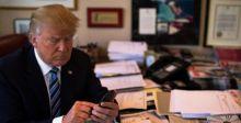"""ترامب يخطئ إملائيا ويقول لايران """"الطعام جاهز"""" بدل """"الرد جاهز"""""""