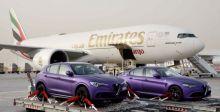 الإمارات للشحن الجوي تتعاون مع قرقاش لنقل سيارتي ألفا روميو