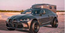 سيارة السفر والتخييم في الصحراء