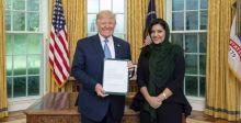 ترامب في استقبال سفيرة المملكة