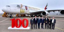 طائرة الإمارات A380 لا تزال محط إعجاب المسافرين