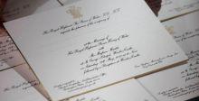 دعوات زفاف الأمير هاري كُتبت بماء الذهب