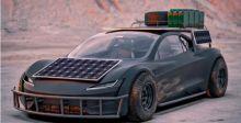 سيارة فولاذية تتحدى الصحراء